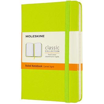 Cuaderno Moleskine Classic pocket rayas tapa dura verde limón