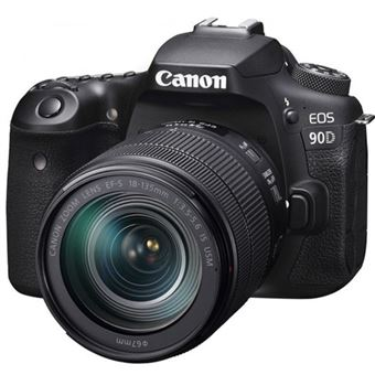 Cámara Réflex Canon EOS 90D + EF-S 18-135mm f/3.5-5.6 IS USM