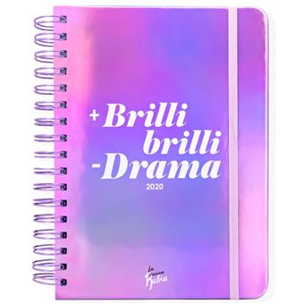 Agenda anual 2020 Semana Vista La Vecina Rubia - +Brillibrilli - Drama