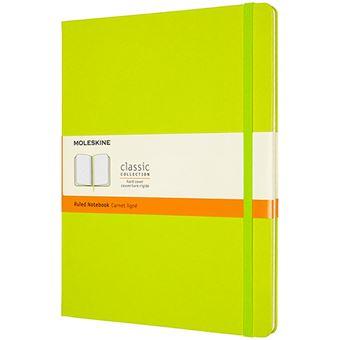 Cuaderno Moleskine Classic XL rayas tapa dura verde limón