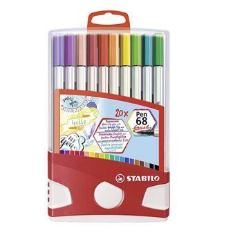 Estuche 20 colores Colorparade Stabilo Pen 68 brush premium