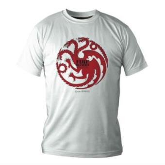 Juego de TronosCamiseta Juego de tronos Casa Targaryen blanca M