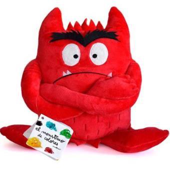 Peluche Monstruo de colores (rojo)