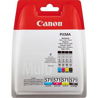 Tinta Canon 571 Negro,Cyan,magenta y Amarillo