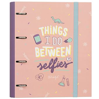 Mr Wonderful Carpeta con anillas – Things I do between selfies