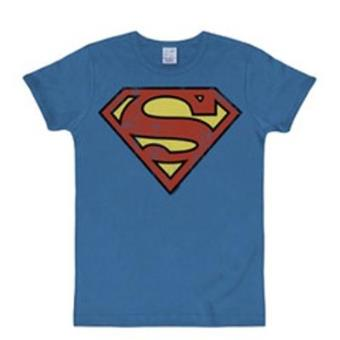 Camiseta Superman - Logo Azure Blue Talla L