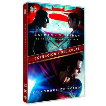Pack El hombre de acero + Batman vs. Superman - DVD