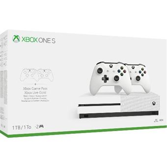 Consola Xbox One S 1TB + 2 Dual Controllers