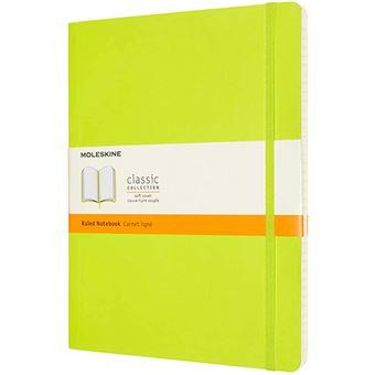 Cuaderno Moleskine Classic XL rayas tapa blanda verde limón