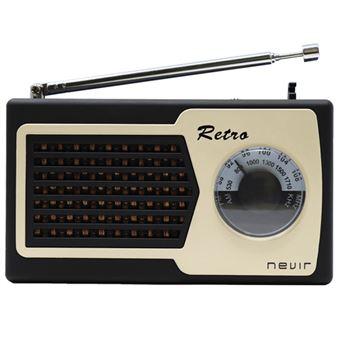 Radio Nevir Retro NVR-200 Negro