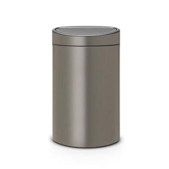 Cubo de basura Brabantia Touch Bin 23+10 L Platino
