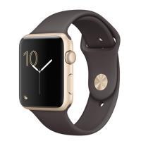 Apple Watch S1 42mm aluminio en oro y correa deportiva en color cacao