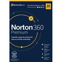 Norton 360 Premium 10 dispositivos 1 año