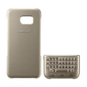 Carcasa Key Board Cover Samsung para Galaxy S7 Edge dorado