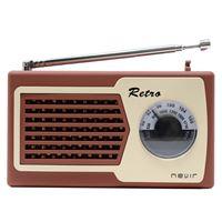 Radio Nevir Retro NVR-200 Marrón