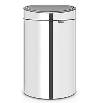 Cubo de basura Brabantia Touch Bin 10 + 23 L Acero brillante