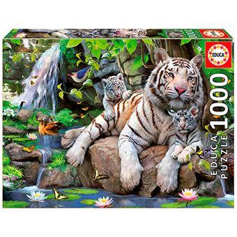 Puzzle Tigres blancos de bengala Educa