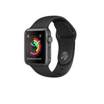 Apple Watch S1 38mm aluminio en gris espacial y correa deportiva negra