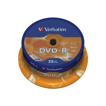 Verbatim Spindle de 25 DVD-R 16 X