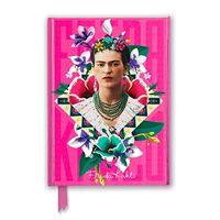 Cuaderno A5 Flame Tree Notebooks Frida Kahlo Pink rayas rosa