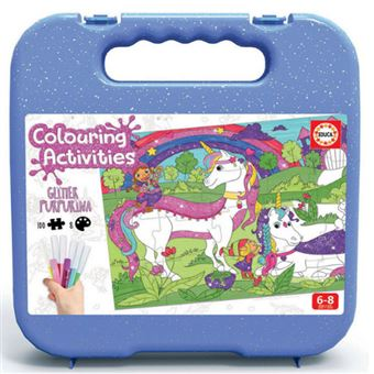 Puzzle coloreable Educa Unicornio