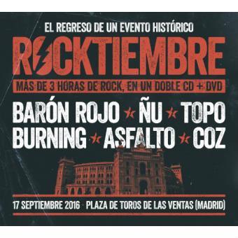 Rocktiembre (2 CD´s + DVD) + Camiseta Talla XL - Disco Firmado