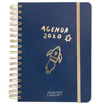 Agenda anual 2020 Semana Vista Monstruo Espagueti