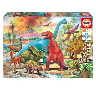 Puzzle Educa Dinosaurios 100 Piezas