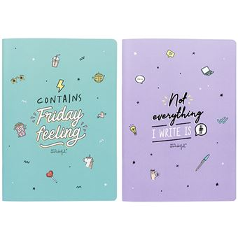 Mr Wonderful Set de 2 Libretas A4 – Contains Friday feeling