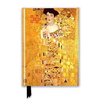 Cuaderno A5 Flame Tree Notebooks Klimt Adele Bloch rayas