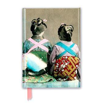 Cuaderno A5 Flame Tree Notebooks Bailarinas japonesas con kimonos rayas