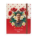 Agenda escolar Erik 2019 20 Semana vista Premium Frida Kahlo Rojo