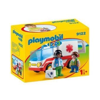 Playmobil 1.2.3 ambulancia (9122)