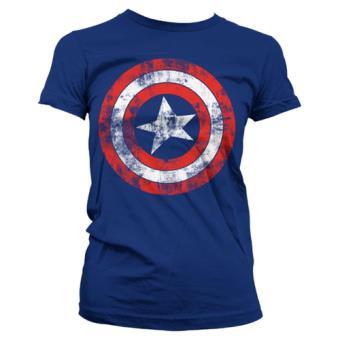 Camiseta Marvel Capitán América - Escudo Azul Talla XL