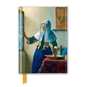 Cuaderno A5 Flame Tree Notebooks Vermeer Mujer con una jarra de agua rayas