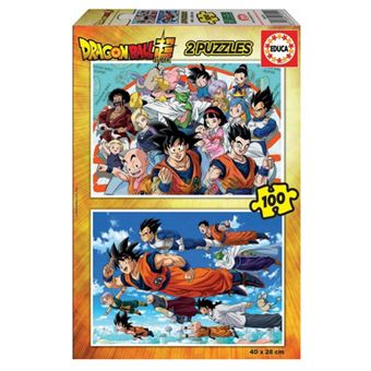 Puzzles Educa - Dragon Ball 2 x 100 piezas