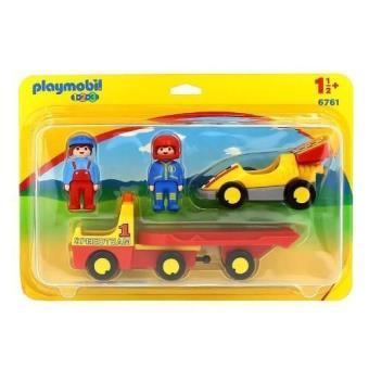 Playmobil 123 Coche de carreras + camión de transporte