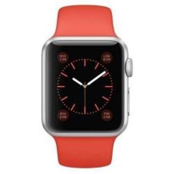 Apple Watch Sport caja de 38mm de aluminio en plata y correa naranja