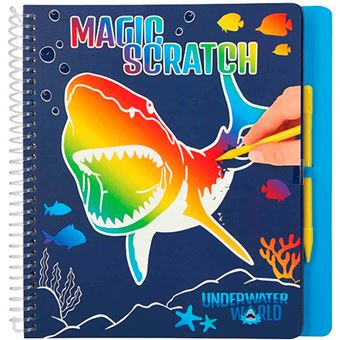 Libro para colorear Magic Scratch Dino World Underwater