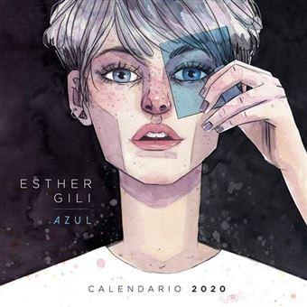 Calendario 2020 Esther Gili  Azul