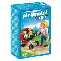 Playmobil Mamá con carrito de gemelos