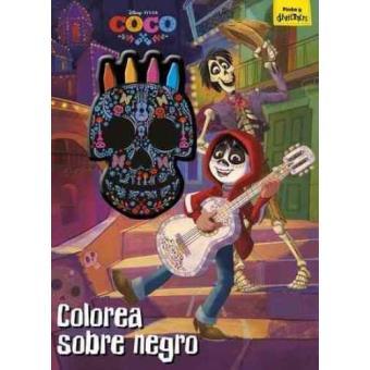 Coco -  Colorea sobre negro