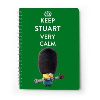 Libreta Minions Keep Stuart very calm