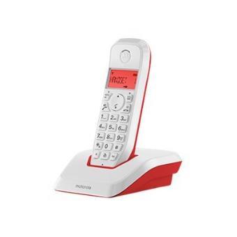 Teléfono inalámbrico Motorola S1201 Rojo Dect