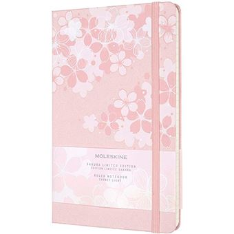 Cuaderno Moleskine Sakura large rayas tapa dura rosa oscuro - Ed limitada