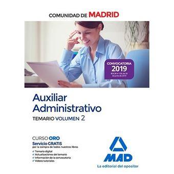 Auxiliar administrativo de la Comunidad de Madrid - Temario Vol 2