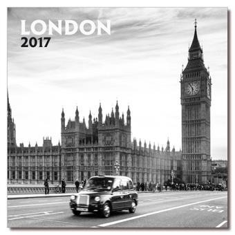 Calendario 2017 Erik London blanco y negro