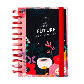 Agenda mediana 2020 Erik día página espiral Blummen