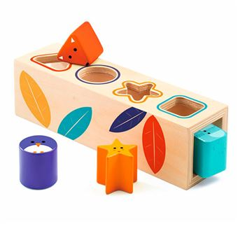Cubo de formas de madera Boita Basic Djeco