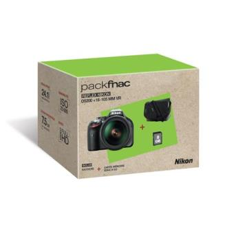 Nikon D5200 + 18-105VR SD8Gb + Estuche Pack Cámara Réflex Digital